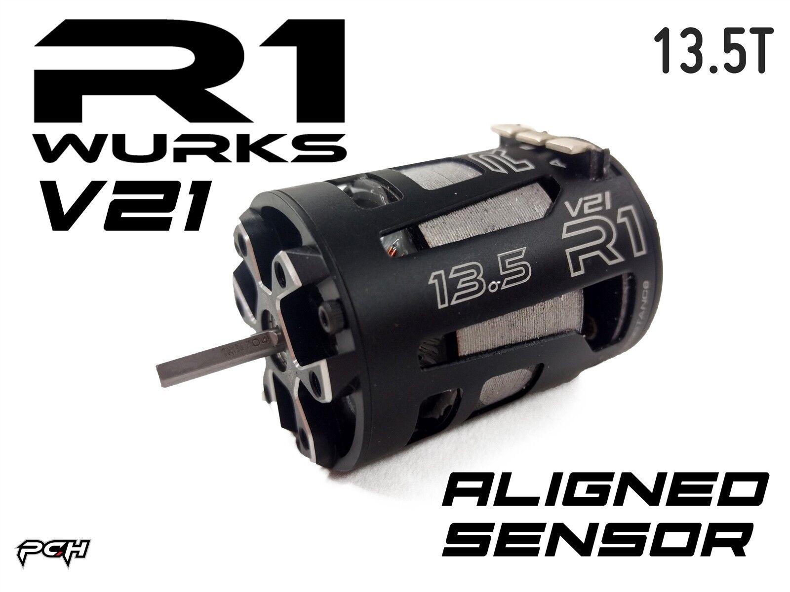autorizzazione ufficiale R1 WURKS WURKS WURKS 13.5T V21 Ultra Premium Brushless Motor w  Aligned Sensor tavola  tutti i beni sono speciali