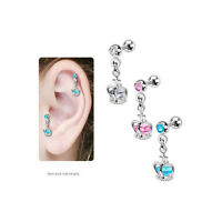 Tragus Cartilage Crown Cage With Gem Earring Jd06 Bodyjewelryonline
