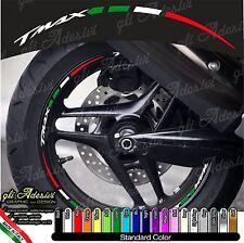 Kit Adesivi Cerchi Moto Ruote TMAX T-MAX T MAX tricolore Italia flag