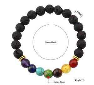 Black Volcano Stone Tibet Buddhist Prayer Beads Mala Bracelet