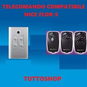 Nice Flo FLO2R-S telecomando compatibile 2 tasti 433,92 Mhz rolling code