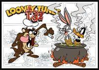 Taz Fridge Magnet Comic Strip Logo. 4 X 5. Bugs Bunny, Daffy Duck....free Ship