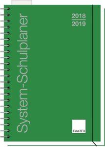 TimeTEX-System-Schulplaner-A4-2018-19-quer-Ringbuch-gruen