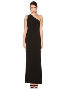 Vestido negro un solo hombro