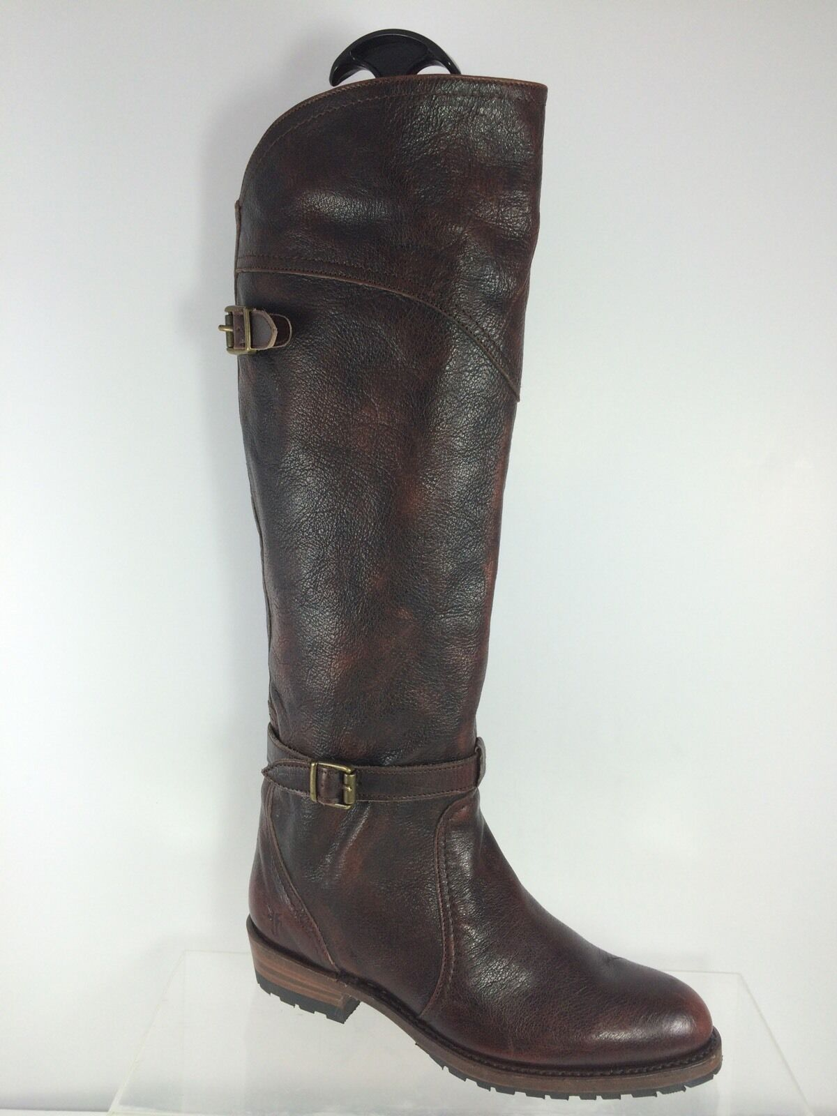 $597 Frye Women's Dark Brown Leather Riding Knee Boots 6