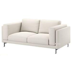 Details About Ikea Nockeby Loveseat 2 Seat Sofa 80 Cover Slipcover Tallmyra Light Beige New