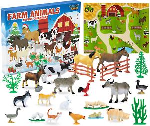 KreativeKraft Zoo Animals Advent Calendar2020,with 24 Animal Toys For Childrens