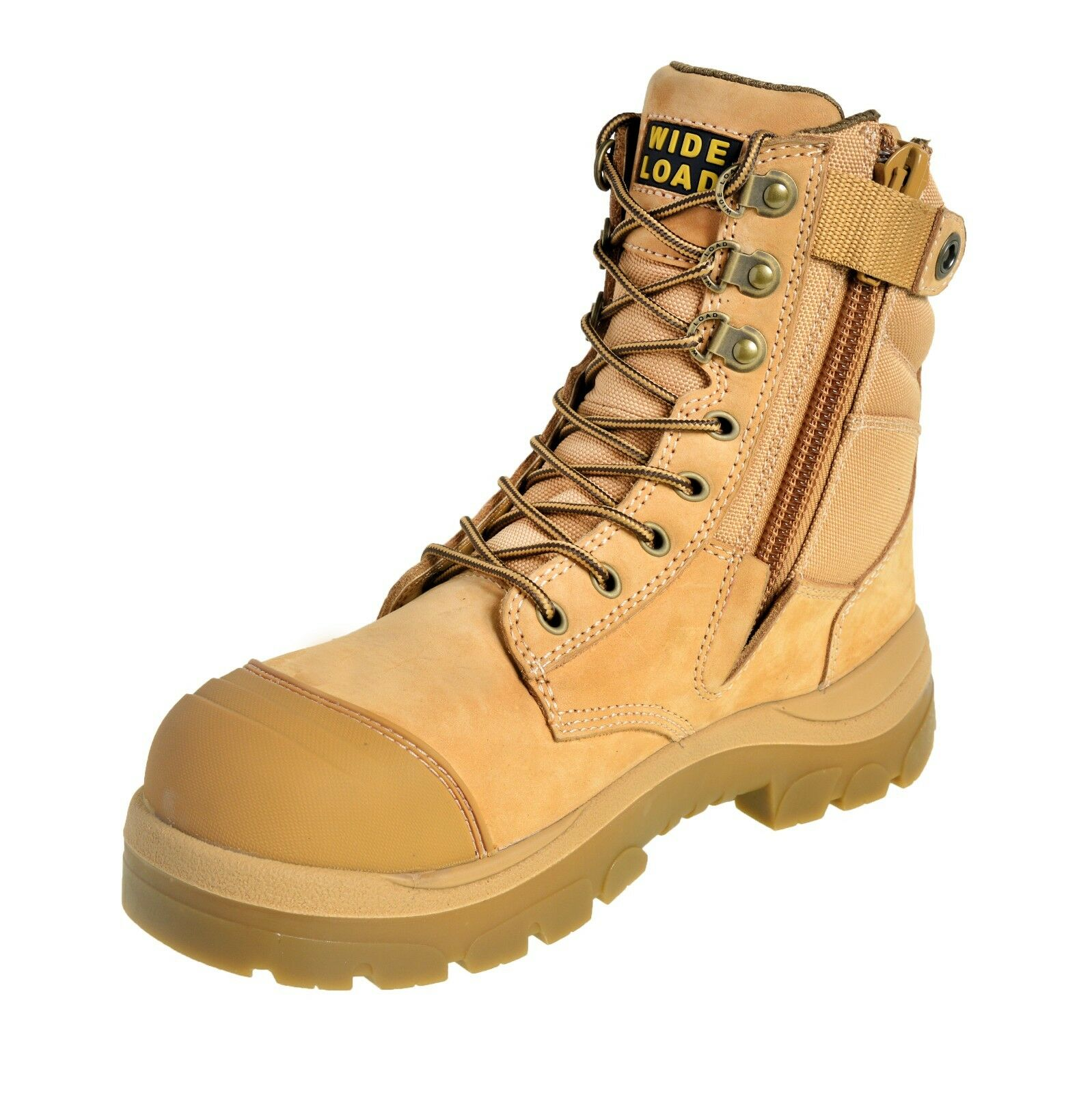 Wide Load 'S3' 'S3' 'S3' 890WZ  Extra Wide, Steel Cap Safety Stivali. Wheat Nubuck. Side Zip 2452f9