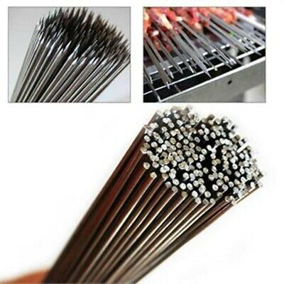 Stainless Steel 30cm Barbecue BBQ Skewers Needle Kebab Kabob Stick OF
