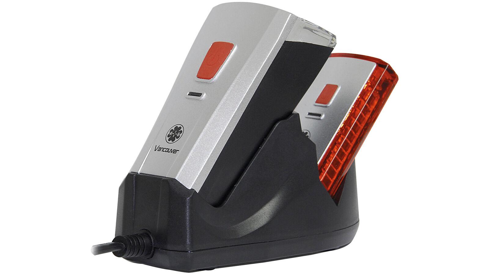 0.310.408 0 Büchel LED BATTERIA Set FARO Pro parte anteriore e posteriore