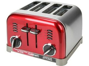 cuisinart cpt 180mr red metal classic 4 slice toaster 86279034540 ebay. Black Bedroom Furniture Sets. Home Design Ideas