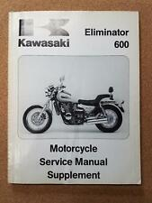 Kawasaki Eliminator 600 Motorcycle Service Manual Supplement For Sale Online Ebay