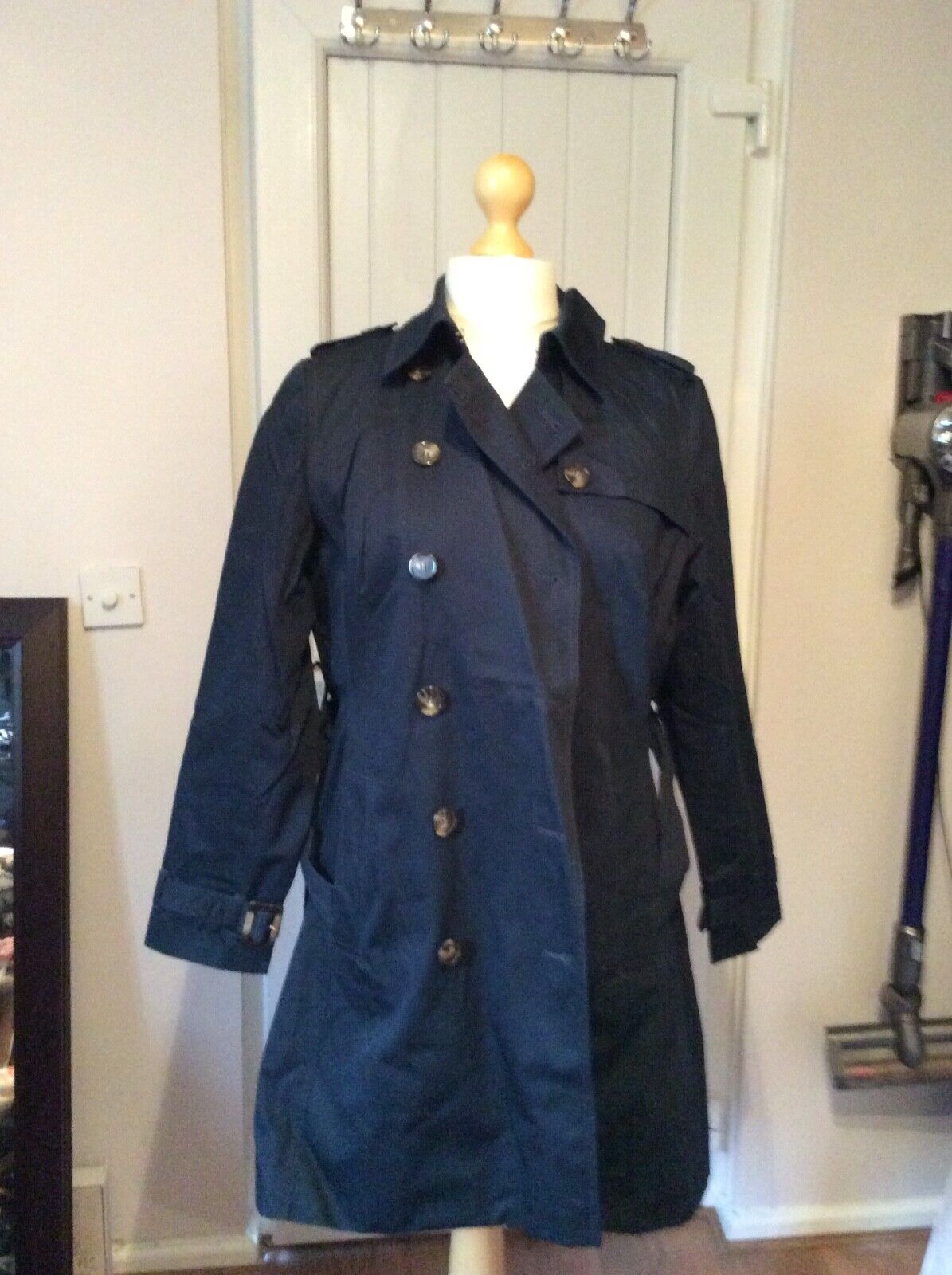 Coat Navy bluee Marks & Spencers Size 18 double breasted