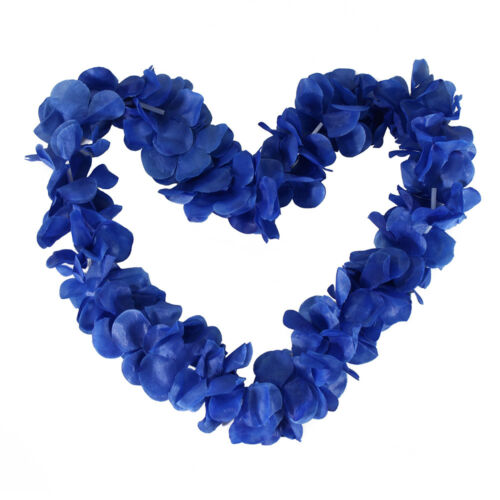 10 Set Hawaiian Ruffled Simulated Silk Flower Hula Party Leis Necklaces Wedding