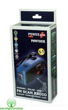 POWERplus Panther Solar & Dynamo (Wind-up) Powered FM Radio & LED Flashlight