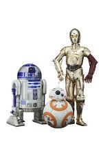 KOTOBUKIYA STAR WARS EP7 R2-D2 C-3PO BB-8 ARTFX+ STATUE 3 PACK FIGURE SET SW114