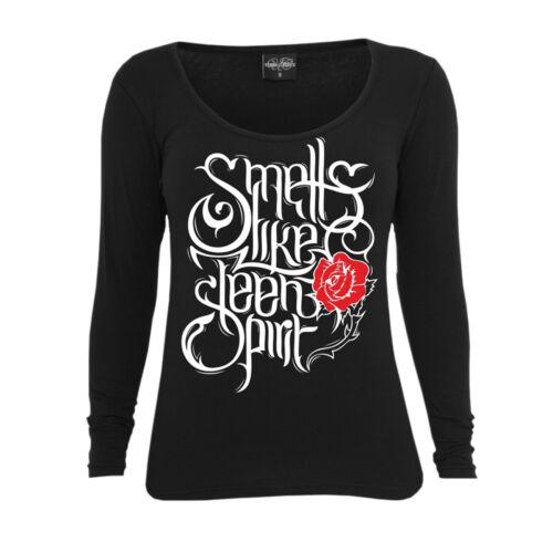 Frauen Damen Langarm Shirt Smells like teen spirit nirvana suicide heavy metal