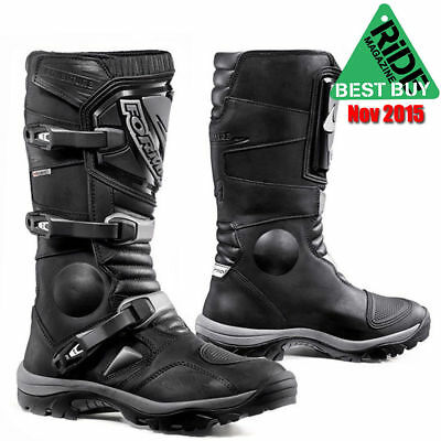 Forma Adventure Leather Motorcycle Boots Black 45
