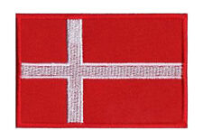 Écusson patch patche drapeau DANEMARK 70 x 45 mm Pays Scandinavie coudre