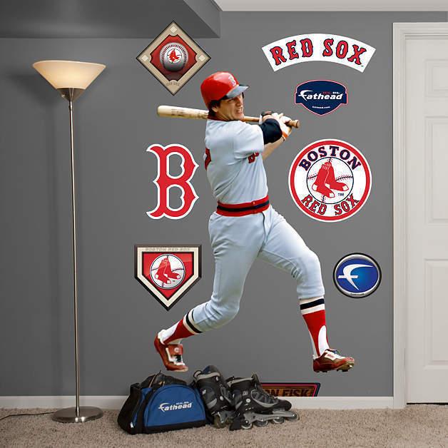 Carlton Fisk Rot Sox 49   B B B X 71   H Fathead Echt Groß Lebensgröße Wand für 1c88c7