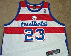 wholesale dealer 373c2 3222f Details about VTG AUTHENTIC MICHAEL JORDAN WASHINGTON BULLETS NBA NIKE  WIZARDS JERSEY 52 SEWN