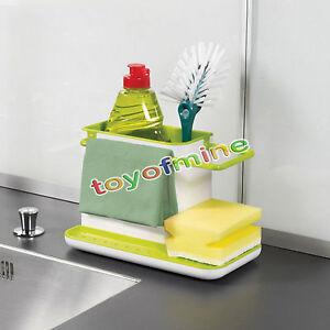 New-Plastic-Racks-Organizer-Caddy-Storage-Kitchen-Sink-Utensils-Holders-Drainer