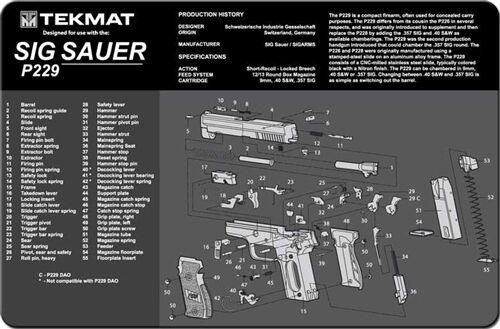 Armurier Démontage Nettoyage TekMat pour SIG SAUER P229 9 mm Auto Chargement pistolet