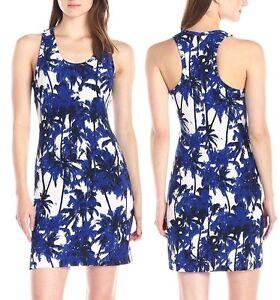 Karen-Kane-1K09173-Blue-White-Floral-Racerback-Stretch-Knit-Tank-Dress-108