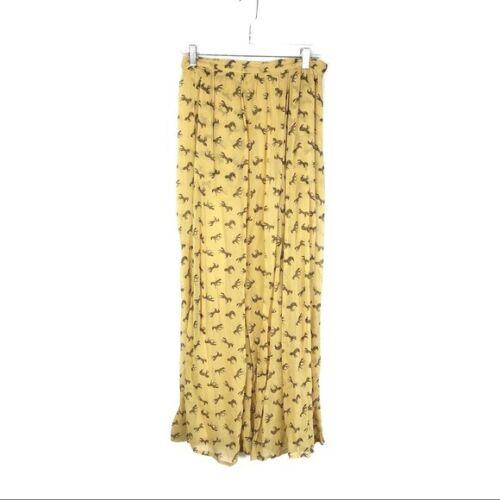 Paul & Joe Sister Zebra Print Yellow Maxi Skirt Ch