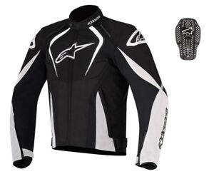 Alpinestars-T-Jaws-WP-White-Black-Waterproof-Textile-Jacket-optional-back-insert