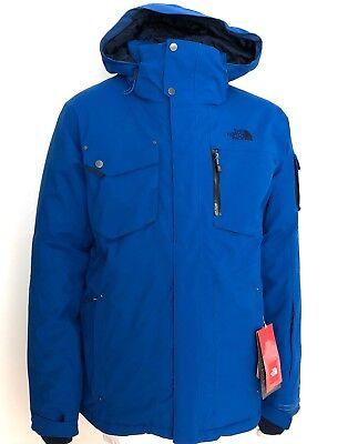 NEW The North Face Hardpack Jacket Insulated Alpine Ski Snorkel Blue Mens Medium
