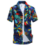 Men-039-s-Hawaiian-Shirt-Summer-Tropical-Tree-Short-Sleeve-Casual-Beach-Top-Blouse thumbnail 3