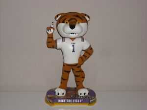 MIKE THE TIGER Mascot LSU Tigers Bobble Head 2017 NCAA Headlines Base New*