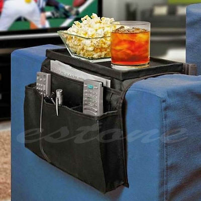 Couch Sofa Arm Rest Organizer Storage Remote Control Holder table bag 6 Pocket