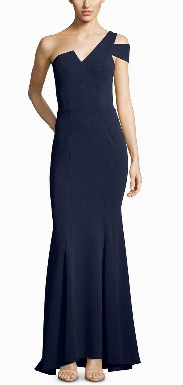 439 BETSY & ADAM WOMEN'S WOMEN'S WOMEN'S blueE MERMAID OFF-THE-SHOULDER LONG GOWN DRESS SIZE 8P 27b02c