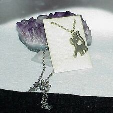 """R.TENNESMED Sweeden Cat Pewter Pendant Chain Necklace 16"""" chain New on tag"""