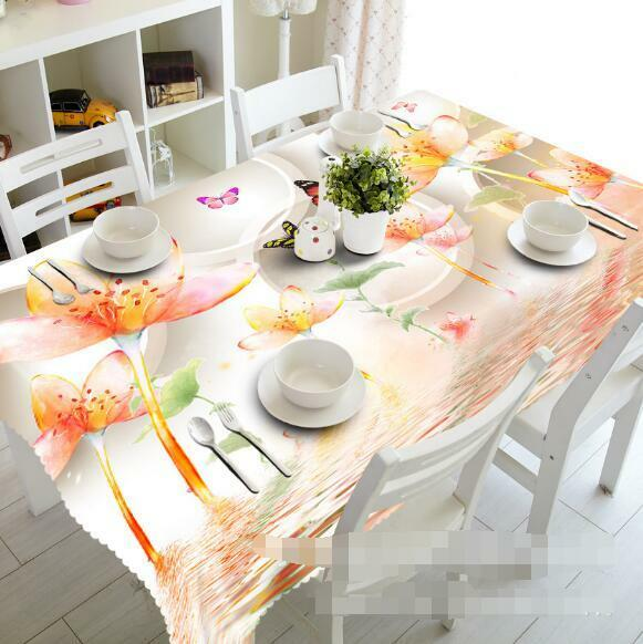 3D Lotus Sea 5 Tablecloth Table Cover Cloth Birthday Party Event AJ WALLPAPER AU