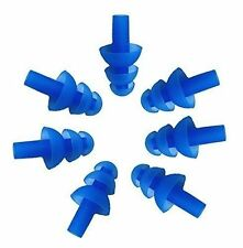 10 Pairs Blue Soft Silicone Earplus Swim Flexible Ear Plugs Swimming Sleeping