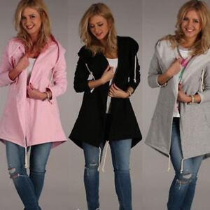 Women-Autumn-amp-Winter-Hoodie-Sweatshirt-Jumper-Sweater-Hooded-Pullover-Tops-NEW