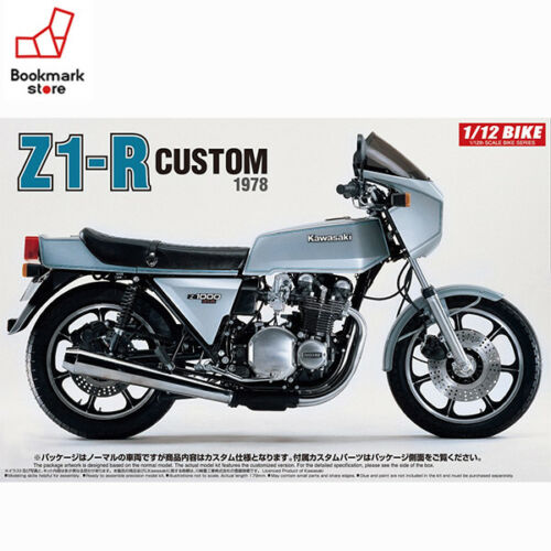 NEW Aoshima 112 BIKE Kawasaki Z1R with Cus Parts Plastic Model Kit from JPN