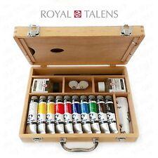 Royal Talens-Van Gogh Aceite Color Arte conjunto en Premium Estuche De Madera