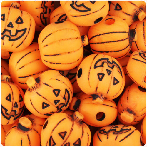 24pcs Halloween Pony Beads BeadTin 20mm Jack O Lantern Choice of styles