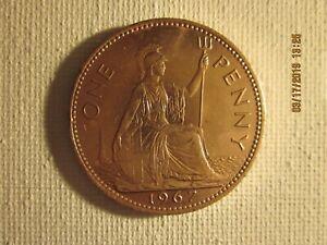 1967-One-Penny-England-Queen-Elizabeth
