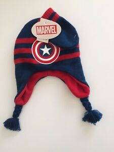 Image is loading Marvel-Captain-America-Hat-amp-Glove-Set-Infant- 1450cacf390