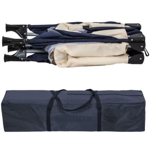 Parc pour bébé pliant Lit parapluie avec matelas lit de voyage réglable bleu