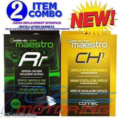 NEW iDATALINK MAESTRO ADS-MRR + ADS-HRN-RR-CH1 ADAPTER / CHRYSLER HARNESS DODGE