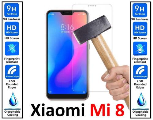 Vidrio templado genuino 100/% Ultra HD protector de pantalla cubierta para Xiaomi Mi 8
