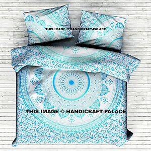 King/Queen/Twin Ombre Mandala Duvet Doona Cover Indian Cotton Comforter Blanket