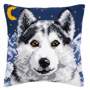 1x Cross Stitch Kit Coussin Wolf Sewing Craft Outil Hobby Art Uk Vrac Filoro-afficher Le Titre D'origine