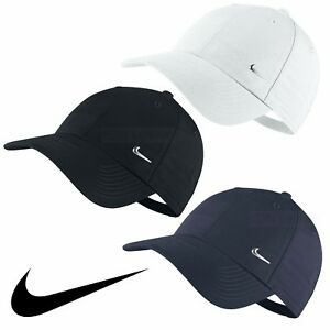 Nike Swoosh Logo Cap Running Golf Baseball Hat Black Navy White ... f44bb2edac0